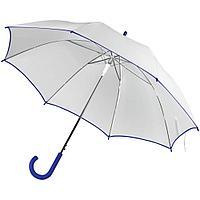Зонт-трость Unit White, белый с синим, фото 1