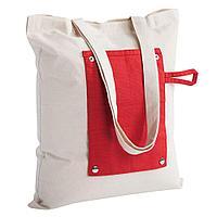 Холщовая сумка Dropper, складная, красная, фото 1