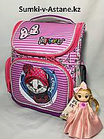 Школьный ранец для девочек в 1-2-й класс.Высота 35 см, ширина 26 см, глубина 14 см., фото 1