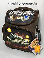 Школьный ортопедический ранец для мальчика в 1-й класс.Высота 35 см, ширина 26 см, глубина 14 см., фото 1