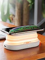 Внешний аккумулятор Hoco S9 5000mAh с беспроводной зарядкой, функцией ночника и подставки, фото 1