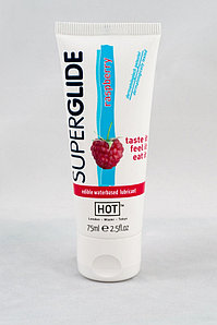 "Смазка ""SUPERGLIDE RASPBERRY"" на водной основе, со вкусом малины, 75 мл, Австрия"