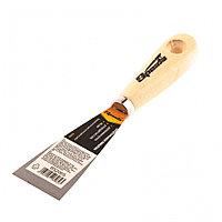 Шпательная лопатка из углеродистой стали, 40 мм, деревянная ручка Sparta