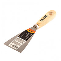 Шпательная лопатка из углеродистой стали, 60 мм, деревянная ручка Sparta