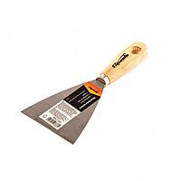 Шпательная лопатка из углеродистой стали, 80 мм, деревянная ручка Sparta
