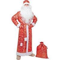 Карнавальный костюм 'Дед Мороз', шуба из парчи, шапка, рукавицы, пояс, мешок, р. 52-54