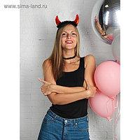 """Карнавальный костюм чертика """"Дьявол по плоти"""" чокер, рожки"""