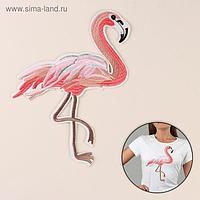 Термоаппликация «Фламинго», 27 × 18,5 см, цвет розовый