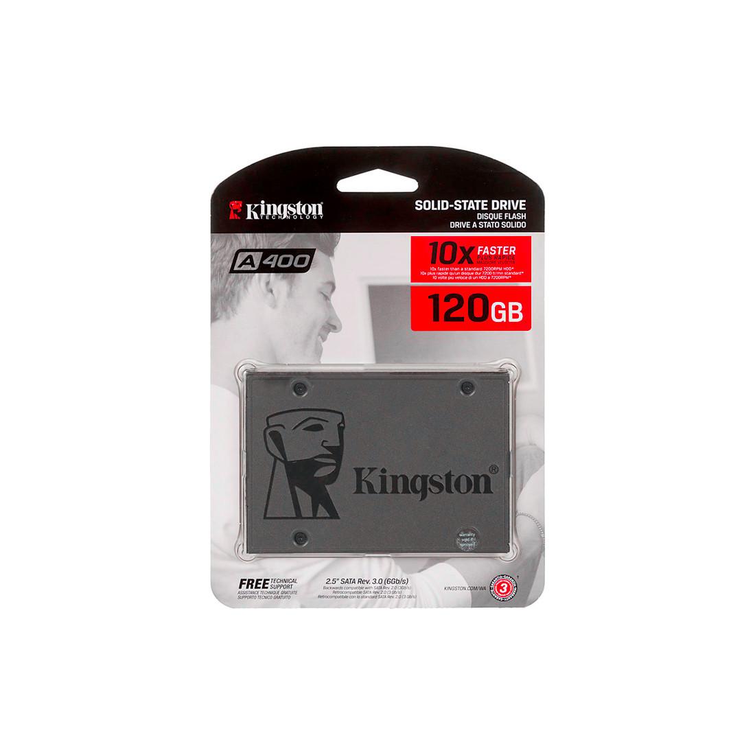 Твердотельный накопитель SSD Kingston SA400S37/120G SATA 7мм
