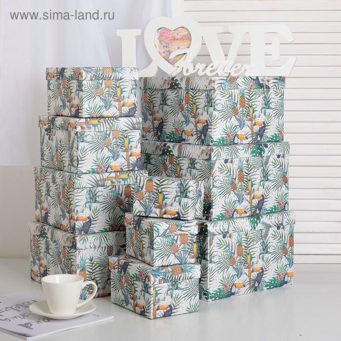 """Набор коробок 10 в 1 """"Тропики"""", 30,5 х 25,5 х 16,5 - 12,5 х 7,5 х 7,5 см - фото 1"""