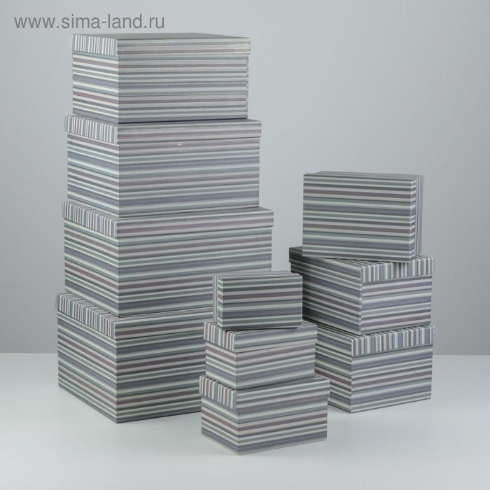 Набор коробок 10 в 1, 30,5 х 25,5 х 16,5 - 12,5 х 7,5 х 7,5 см - фото 4