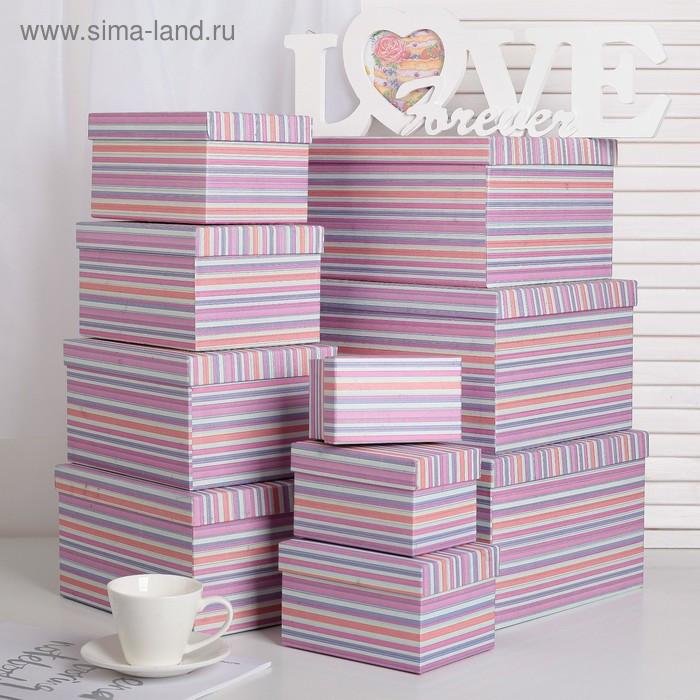 Набор коробок 10 в 1, 30,5 х 25,5 х 16,5 - 12,5 х 7,5 х 7,5 см - фото 1