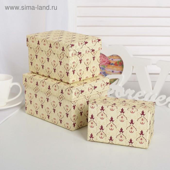 """Набор коробок 10 в 1 """"Дамаск"""", 30,5 х 25,5 х 16,5 - 12,5 х 7,5 х 7,5 см - фото 2"""