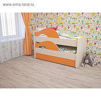 Кровать двухъярусная выкатная Матрешка 800х1600 с ящиком Оранж/млечный дуб