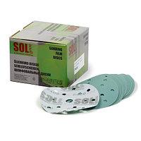 SOLL шлифовальные круги на пластиковой основе зеленые 15 отв. Р80-Р600