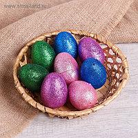 Основа для творчества «Яйцо с блёстками», набор 8 шт, размер 1 шт: 4×6 см, цвета МИКС