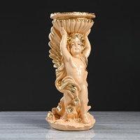 Статуэтка 'Ангел с горшком' бежевая, 52 см