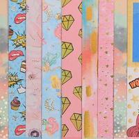 Набор бумаги для скрапбукинга с фольгированием 'Будь счастлив', 10 листов 15.5 x 15.5 см, 250 г/м