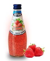 Напиток Семена базилика с ароматом Клубники  RIVA 290 мл
