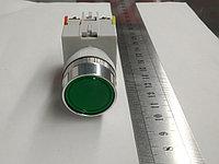 Кнопка без фиксации 1NO+1NC зеленая, фото 1