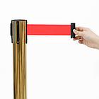 Напольная стойка-ограждение с выдвижной лентой (ЗОЛОТО), фото 2