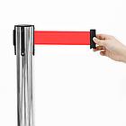 Стойка-ограждение с вытяжной лентой (хром), фото 2