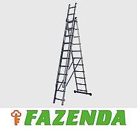 Трехсекционная алюминиевая лестница 3х11