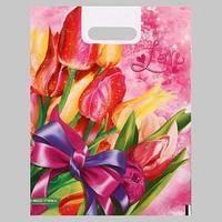 Пакет ' Love', полиэтиленовый с вырубной ручкой, 30х40 см, 60 мкм (комплект из 25 шт.)