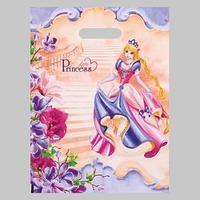Пакет 'Принцесса', полиэтиленовый с вырубной ручкой, 30х40 см, 60 мкм (комплект из 25 шт.)