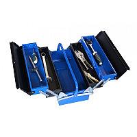 ROCKFORCE Ящик инструментальный складной, 5 отделений (415х235х200мм-габариты, 410х95х45мм-4полки, 410х200х100-1полка) ROCKFORCE RF-1141711