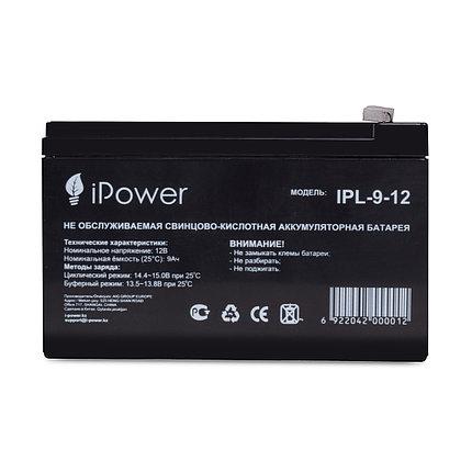 Аккумуляторная батарея 12В 9Ач IPower (95*151*65), фото 2
