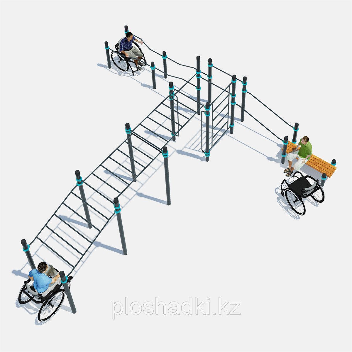 Тренажер для людей с ограниченными возможностями, для нескольких человек