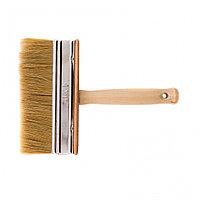 Кисть-ракля, 40 х 150 мм, натуральная щетина, деревянный корпус, деревянная ручка Россия, фото 1