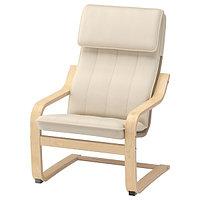 Кресло детское ПОЭНГ березовый шпон ИКЕА, IKEA