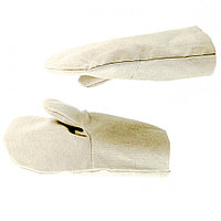Рукавицы х/б двунитка, наладон двунитка, 1 размер Россия Сибртех