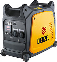 Генератор инверторный GT-2600i, X-Pro 2.6 кВт, 220 В, цифровое табло, бак 7.5 л, ручной старт Denzel
