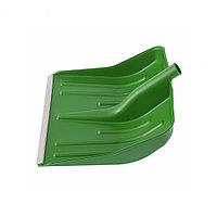 Лопата для уборки снега пластиковая, зеленая, 420х425 мм, без черенка, Россия Сибртех