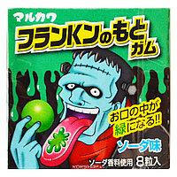 Жев.резинка Marukawa Франкенштейн со вкусом лимонада 11,1 гр (Зеленый)  Япония