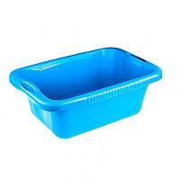 Таз пластмассовый прямоугольный 25 л, голубой, Россия Elfe