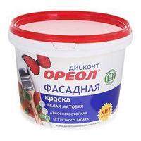 Краска водно-дисперсионная  Ореол для наружных работ 3 кг (комплект из 2 шт.)