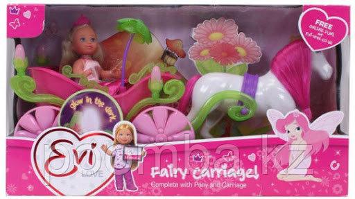 Кукла Еви 12 см в карете и лошадь Simba
