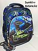 Школьный рюкзак для мальчика в 1-2-й класс.Высота 36 см, ширина 26 см, глубина 17 см.