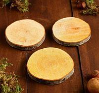Набор спилов ольхи, диаметр 9-11 см, 3 шт, фото 1