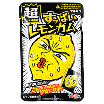 Жев.резинка Marukawa Супер кислый Лимон 41,5  гр Япония