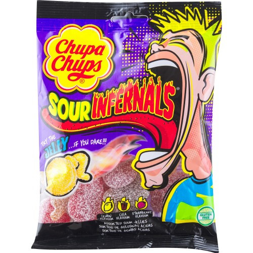 Жев.мармелад Chupa Chups Sour Infernals 120 гр