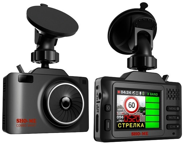 Видеорегистратор с радар-детектором SHO-ME Combo SMART, GPS - фото 2