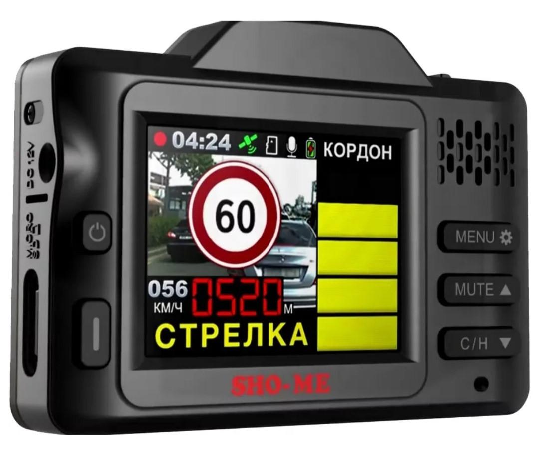 Видеорегистратор с радар-детектором SHO-ME Combo SMART, GPS - фото 3