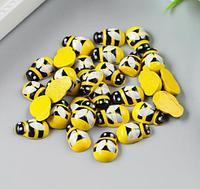 """Декор для творчества дерево """"Жёлтая пчёлка"""" набор 30 шт 0,9х1,3 см, фото 1"""