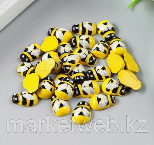 """Декор для творчества дерево """"Жёлтая пчёлка"""" набор 30 шт 0,9х1,3 см - фото 1"""