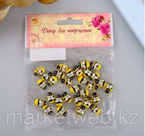 """Декор для творчества дерево """"Жёлтая пчёлка"""" набор 30 шт 0,9х1,3 см - фото 4"""